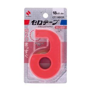 ニチバン/セロテープ 小巻カッター付 まっすぐ切れるタイプ 18mm幅 レッド(CT-18DCR)テープの切り口がまっすぐきれいに! NICHIBAN|bungle