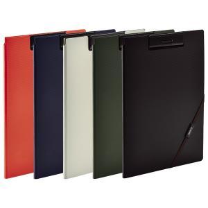 【全5色・A4サイズ】リヒトラブ/SMART FIT クリップファイル(F-7560)LIHIT LAB.マルチポケット&外側ポケットつき|bungle