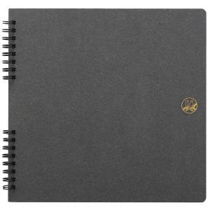 セキセイ/ふうあい スクラップブック コラージュ向き 黒クラフト台紙 (FU-2162) 懐かしいセキセイマークを表紙にデザイン sedia|bungle