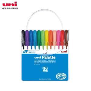 【12色セット・太字丸芯】三菱鉛筆/水性サインペン<uni Palette(ユニパレット)>PW-503PLT お子様も安心して使える、食用染料サインペン|bungle