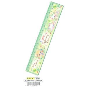 ☆2018年新入学アイテム☆ かわいいデザイン 15cm定規 BLOOMING CLOVER bungu-mori