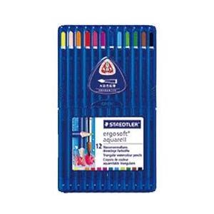 最高級の書き心地 ステッドラー エルゴソフトアクェレル水彩色鉛筆12色