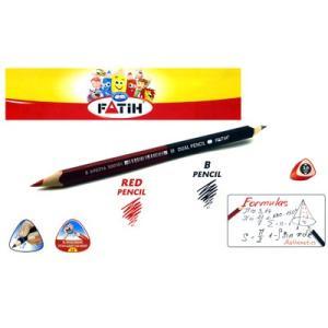 トルコの筆記具メーカー「PENSAN」☆ 日本にはない世界でも珍しい赤・黒の2色仕様に持ちやすい太軸三角軸 赤・黒ダブルペンシル|bungu-mori