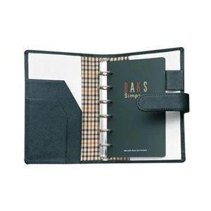 セーラー DAKS レザーコンビB7システム手帳 ハウスチェック柄をさりげなくあしらった高級感漂うシステム手帳 プレゼント 父の日 お祝い bungu-mori
