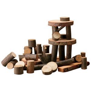 ツリーブロックス つみき プレゼント インテリア 切り株 ナチュラル 知育玩具 お祝い|bungu-mori