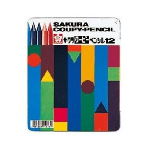 折れない・消せる・削れる全部が芯の色鉛筆 サクラクレパス クーピーペンシル12色|bungu-mori