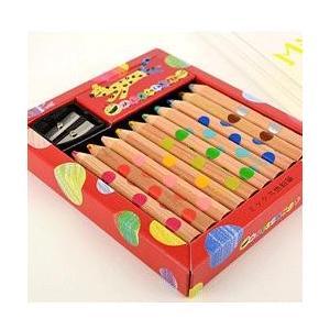 絵本作家が厳選した2つの色を1本の芯に収めた混色芯を採用した新しい色鉛筆 コクヨ ミックス色鉛筆10...