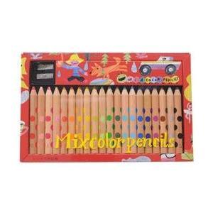絵本作家が厳選した2つの色を1本の芯に収めた混色芯を採用した新しい色鉛筆 コクヨ ミックス色鉛筆20...