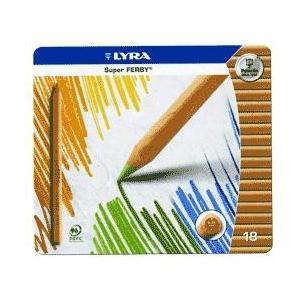 【名入れ無料】軽いなめらかな書き心地! LYRA スーパーファルビー白木三角軸色鉛筆18色|bungu-mori