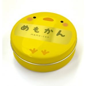 動物みたいな丸缶に入った【めもかん】ビバリー どうぶつめもかん ひよこ MK-013|bungu-mori