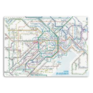 """これがあれば迷わない! 首都圏の鉄道路線図が入った機能性とデザイン性を兼ね備えます! 鉄道路線図""""首都圏""""下敷きA4サイズ"""