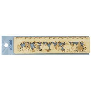 サンスター文具 ムーミン 木製定規 MU20SS ブルー ムーミンの世界観を表現したプレートとして飾...