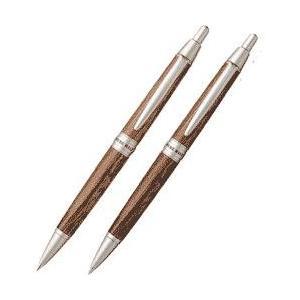 【文具の森オリジナル】三菱鉛筆 ウイスキーを育んだ樽材 ピュアモルト 2本セット|bungu-mori