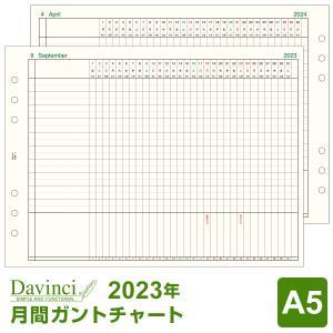 システム手帳リフィル 2018年 A5 ダ・ヴィンチ 月間-4 ガントチャートタイプ DAR1843(メール便対象)
