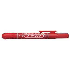 【仕様】●インク色:赤●油性インキ●線幅:1.0mm〜1.3mm●ノック式●長さ:140.3mm