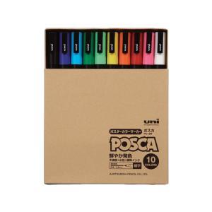 三菱鉛筆/ポスカ 細字 10色セット/PC-3MT10C