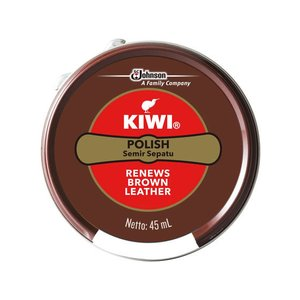 ジョンソン/KIWI 油性靴クリーム SHOE POLISH 茶系用 45ml