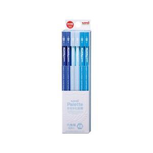 三菱/uniかきかた鉛筆 6角 4B パステルブルー 12本/K55604B