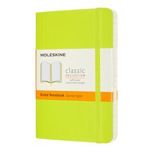 クラシックノートブック (横罫) ソフトカバー レモングリーン ポケットサイズの商品画像|ナビ