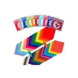 おりがみ 折り紙 アイアイカラー 単色 100枚入り 15cm×15cm ★1  メール便可