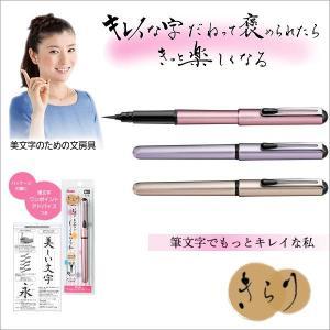 筆ペン 筆 ペン POP用 ぺんてる筆 携帯用 筆ペン  メ...
