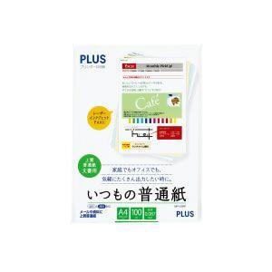 プラス プリンター共用紙 いつもの普通紙 A4 100枚入 MP-120RP メール便可|bunguya