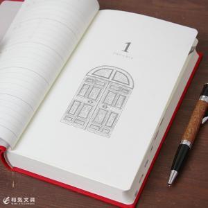 日記帳 5年日記 名入れ 無料 ミドリ 扉柄|bunguya|04