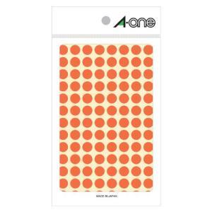 【まとめ割】エーワン A-One 特殊ラベル 丸型 直径9mm 104面 蛍光赤 08171 / 5セット メール便可|bunguya