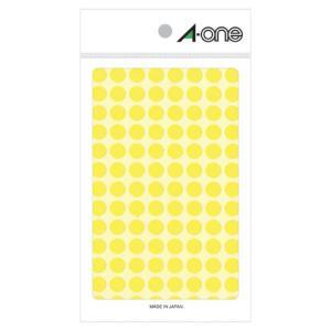 【まとめ割】エーワン A-One 特殊ラベル 丸型 直径9mm 104面 蛍光黄 08173 / 5セット メール便可|bunguya