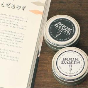 ブックダーツ 和気文具オリジナルデザイン缶 75個入り 3色ミックス 栞 しおり