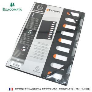 エグザコンタ EXACOMPTA エグザクティブハーモニカマルチパートファイル9分割|bunguya