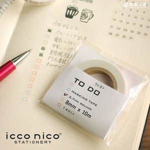 文房具 人気 icco nico イッコニコ TODO クレヨン マスキングテープ|bunguya
