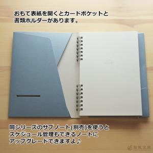 いろは出版 サニーノート SUNNY NOTE for business A5変形サイズ 2.5mm方眼 157ページ  リングノート  ページ番号付き  バレットジャーナル bunguya 05