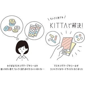 マステ マスキングテープ 15mm 持ち運べる KITTA キッタ Basic ベーシック #02|bunguya|03