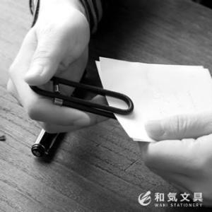 本革 ギフト 日本製 革巻きクリップ L あすつく対応|bunguya|05