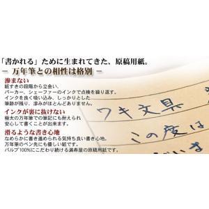 満寿屋(ますや)原稿用紙[クリーム紙]No.111No.113[B4判 400字詰 ルビ有](名入れ有)50冊 bunguya 03