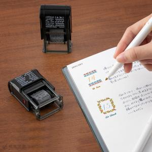 手帳カスタマイズ かわいい ミドリ スタンプ 回転印|bunguya