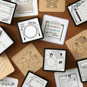 かわいい 手帳作り ノート はんこ ミドリ スタンプ 浸透印|bunguya