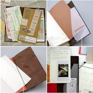 手帳 2020 名入れ 無料 トラベラーズノート パスポートサイズ 週間ダイアリー + 無地ノート セット|bunguya|06