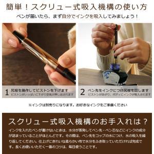 万年筆 ペリカン Pelikan クラシックM200 マーブルブラウン 万年筆 ピストン吸入式|bunguya|07