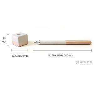 デスクペン ボールペン 蔵前コンクリート Kuramae Concrete 専用ホルダー付きペン Pen bunguya 07