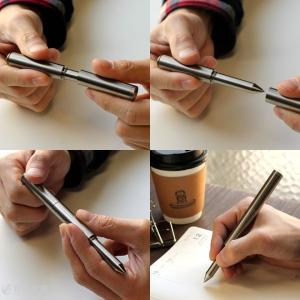 限定  ボールペン ショーン・デザイン Schon DSGN チタニウム Titanium ボールペン ショーンデザイン|bunguya|06