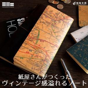 山本紙業 RO-BIKI NOTE ロウ引きノート マップシリーズ 無地 bunguya 03