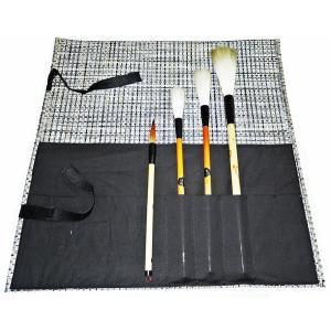 書道 筆巻き ビニール筆巻き(ポケット付)大 45×45cm|bunrindo-1