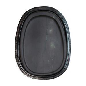 書道 硯 端渓硯 麻子坑 薄型楕円 5インチ 約92x126 高さ9mm 木箱付(木箱の交換不可)|bunrindo-1