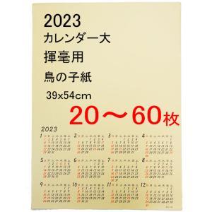 書道 カレンダー 2019年 揮毫用カレンダー(大) 390×540mm(20枚〜99枚) bunrindo-1