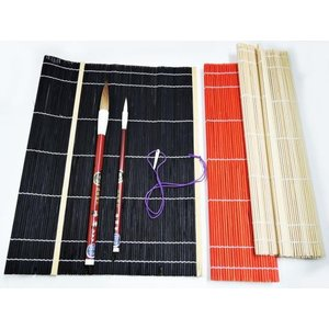 書道 筆巻き 筆巻き 小 尺 巾30×長さ30cm 黒・赤・白(メール便6本まで可)|bunrindo-1