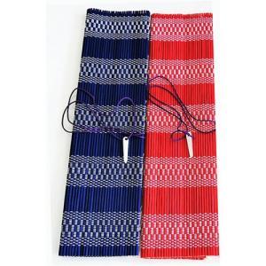 書道 筆巻き 筆巻きカラー 29×29cm 青・赤(メール便6本まで可)|bunrindo-1