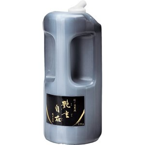 書道 墨汁・墨液 呉竹 超々濃墨墨液 艶玄自在 1.8kg|bunrindo-1