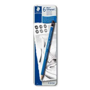 ステッドラー 100-G6 マルス ルモグラフ 製図用高級鉛筆 6本セット 100 G6 bunsute